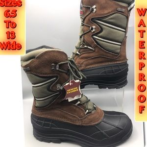 Waterproof Insulated Men's Tall Boots Wide Width